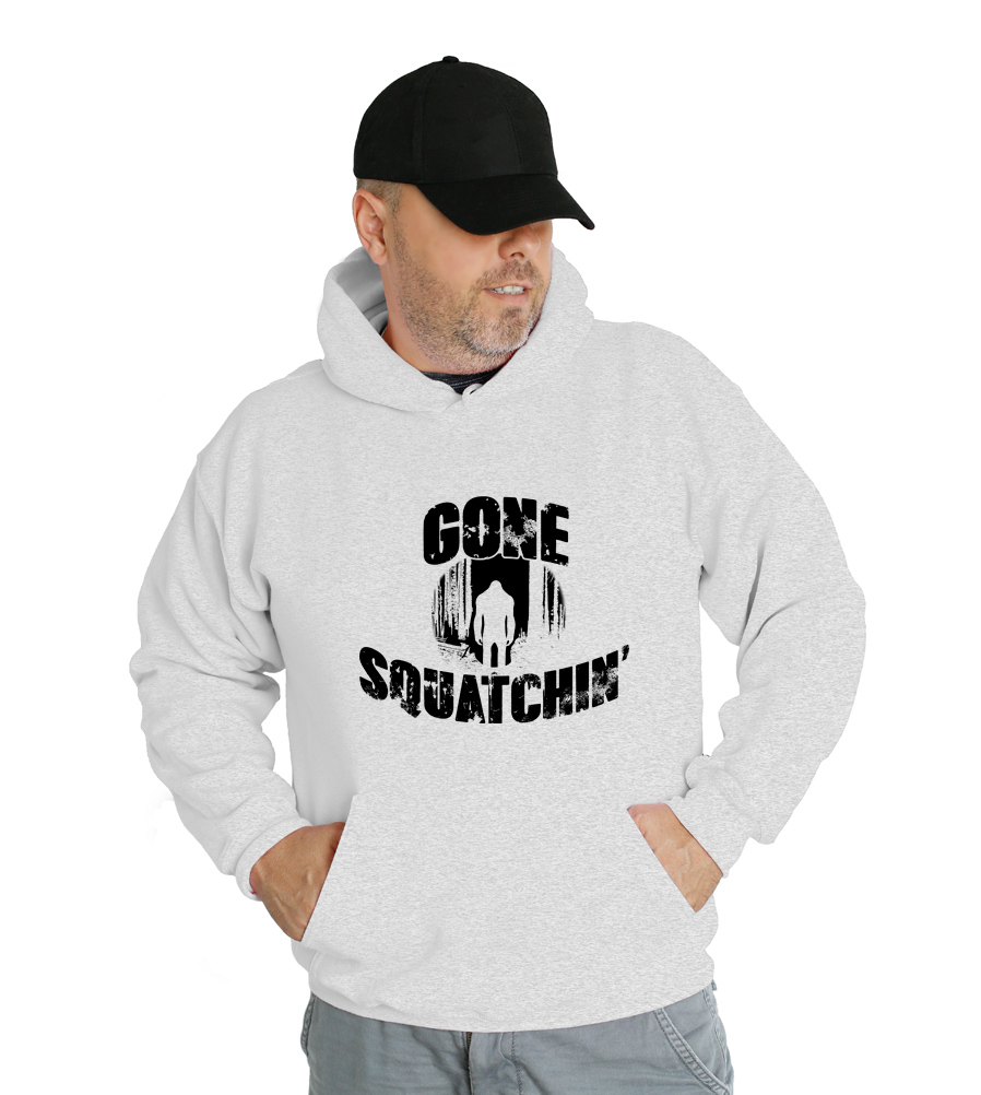 Gone Squatchin Finding Sasquatch Big Foot Research Hunter Team Hooded Sweatshirt