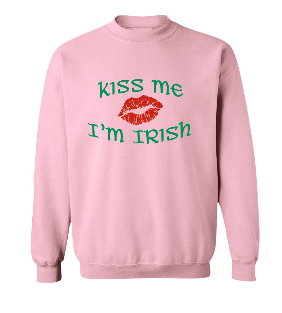 Kiss Me I'm Irish St. Patrick's Day Crew Neck Sweatshirt