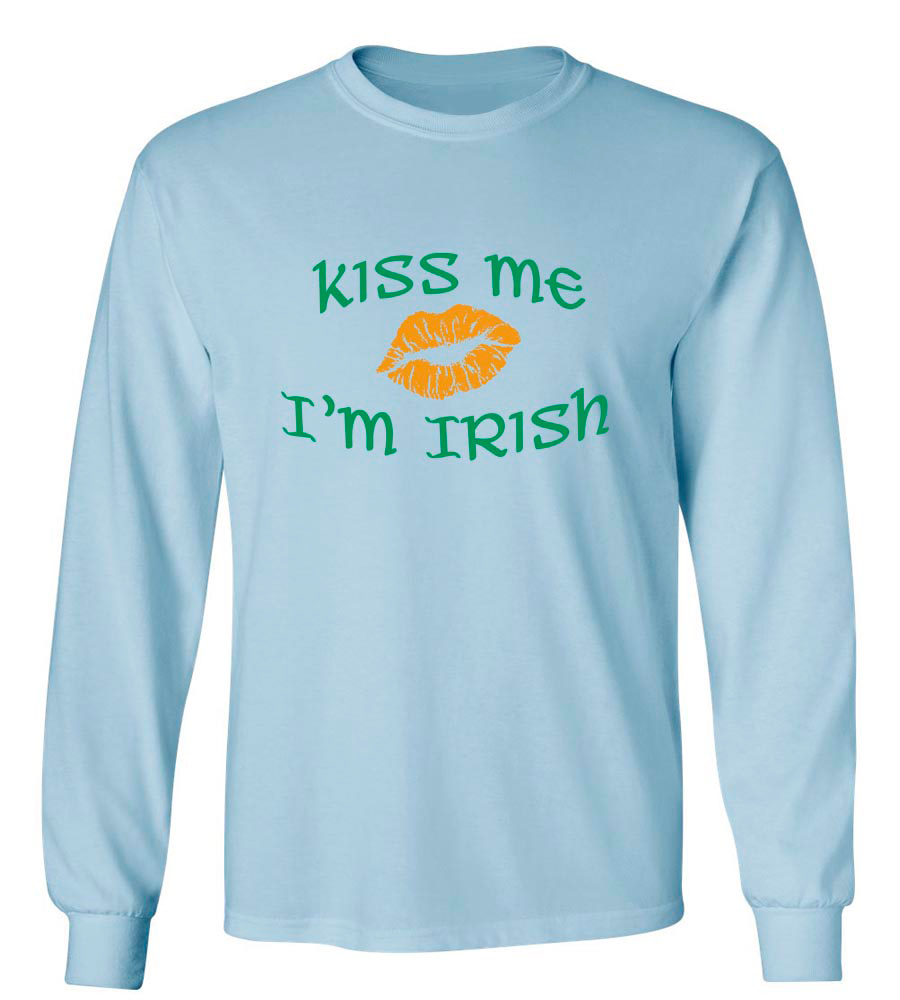 Kiss Me I'm Irish St. Patrick's Day Long Sleeve T-Shirt