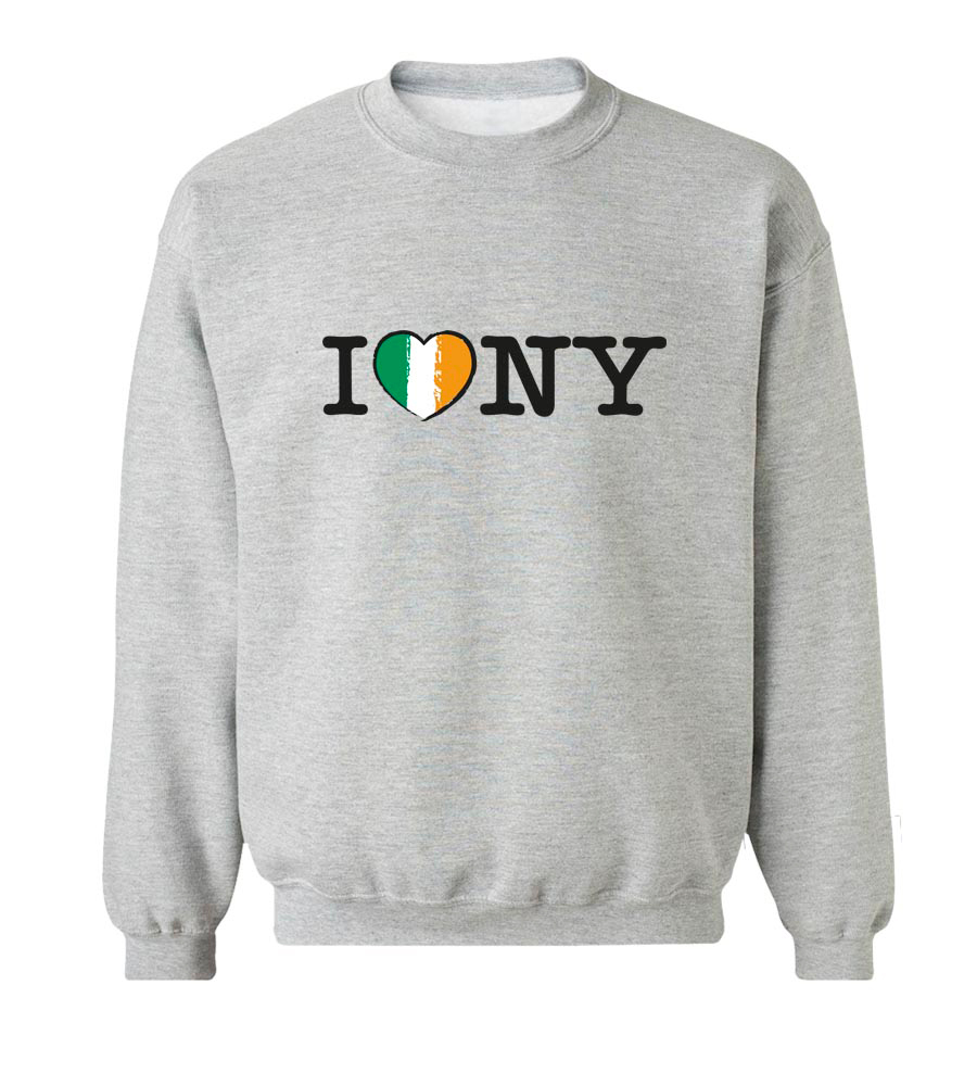 I Love New York St. Patrick's Day Crew Neck Sweatshirt