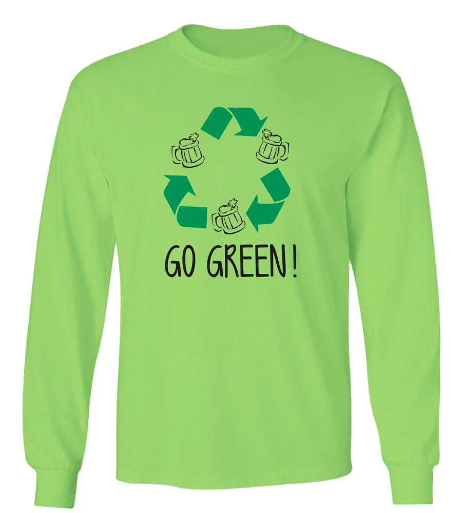 Go Green St. Patrick's Day Long Sleeve T-Shirt