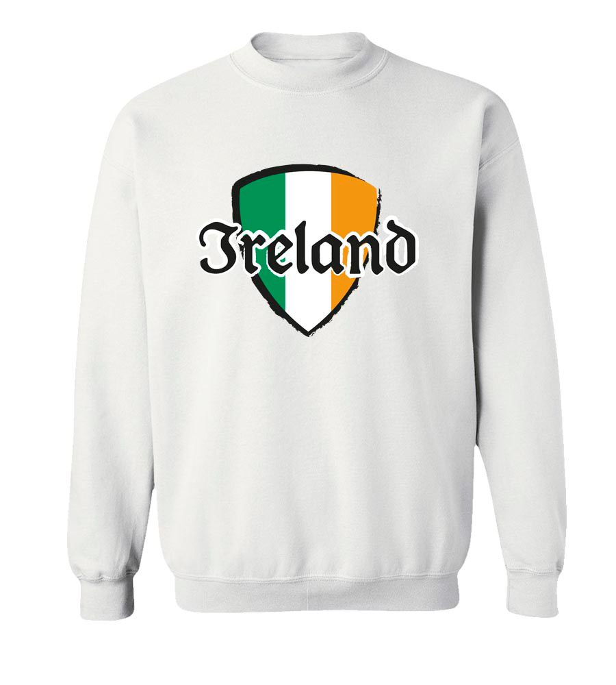 Ireland Shield St. Patrick's Day Crew Neck Sweatshirt