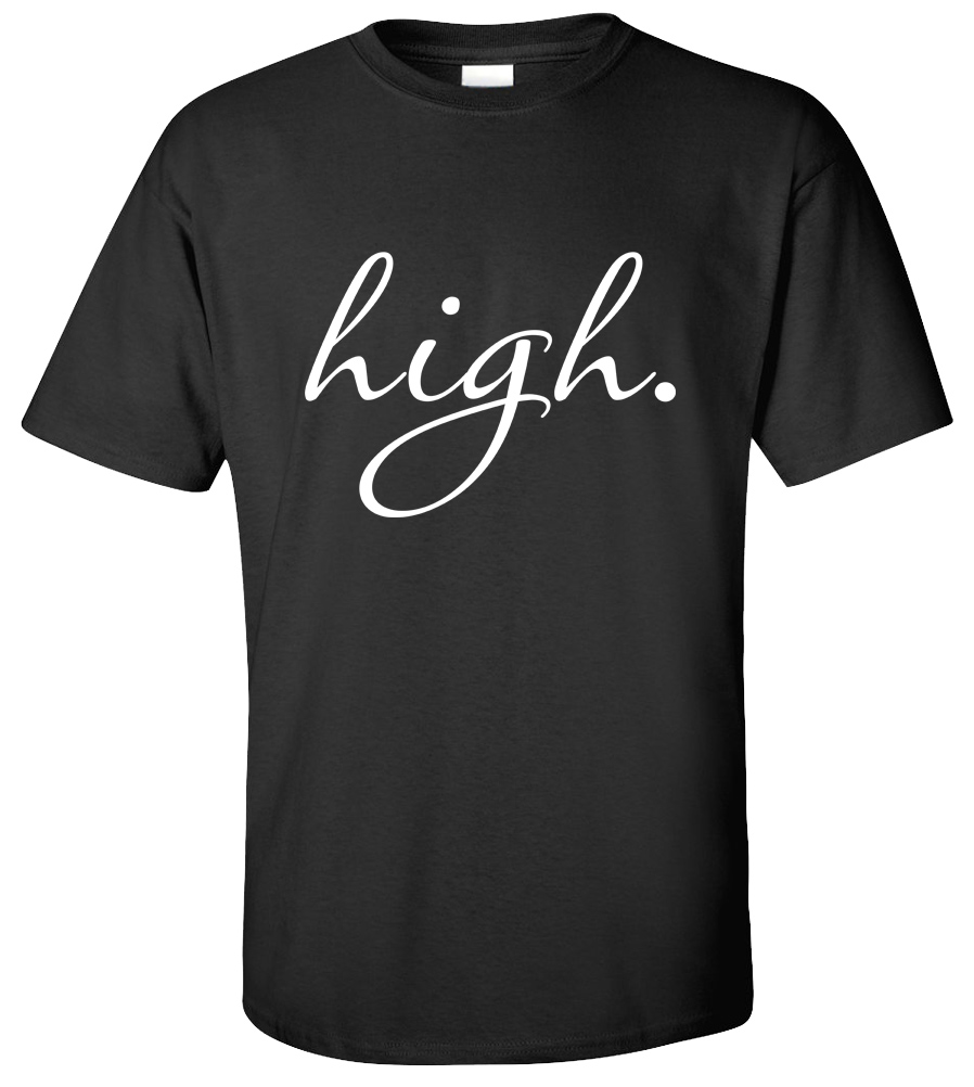 High T-shirt Funny College Geek Tee