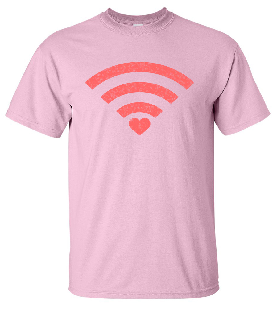 Love WiFi T-shirt Funny College Tee