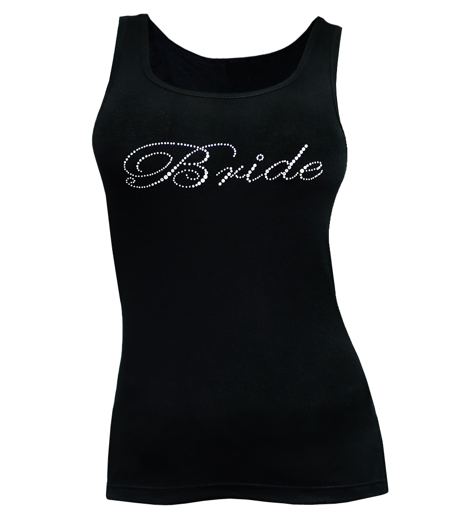 Bride Rhinestones Wedding Tank Top
