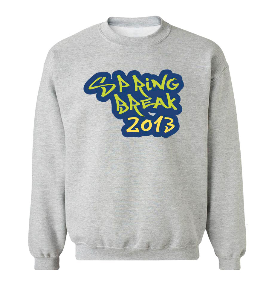Spring Break 2013 Crew Neck Sweatshirt