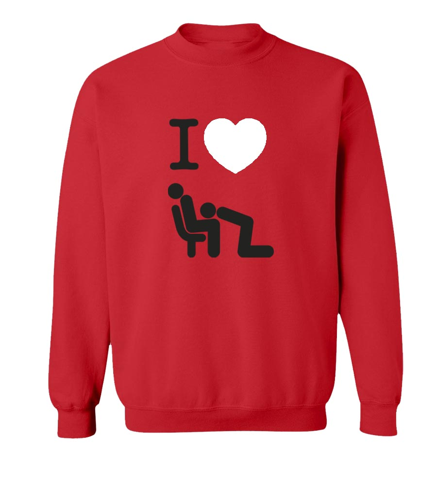 I Love Head Crew Neck Sweatshirt