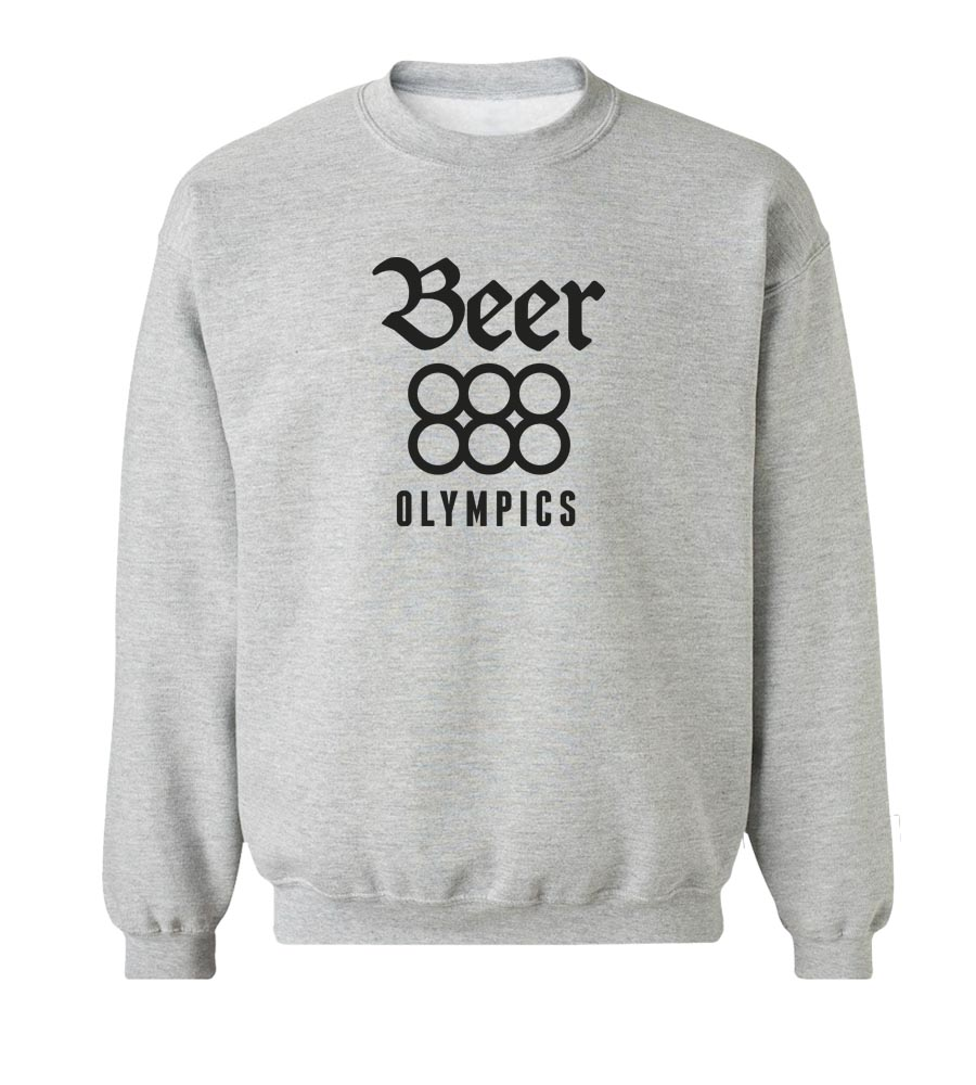 Beer Olympics Crew Neck Sweatshirt