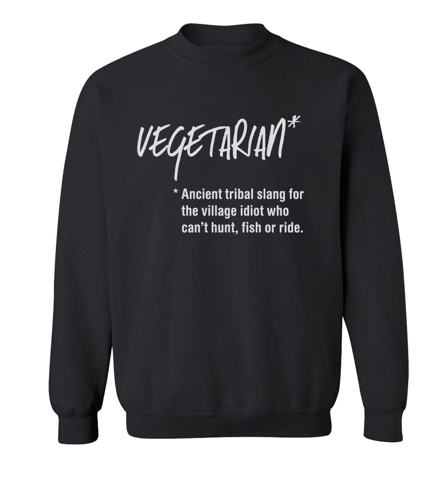 Vegetarian Definition Crew Neck Sweatshirt