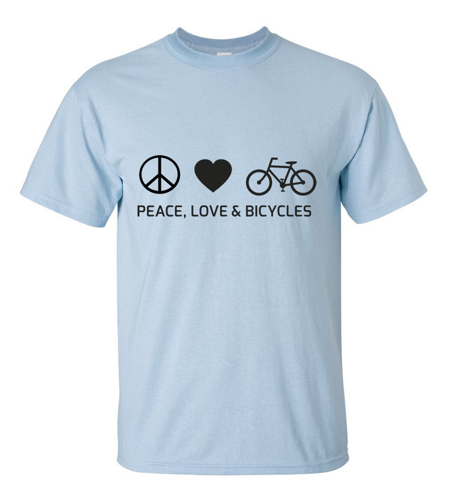 Peace, Love & Bicycles T-Shirt