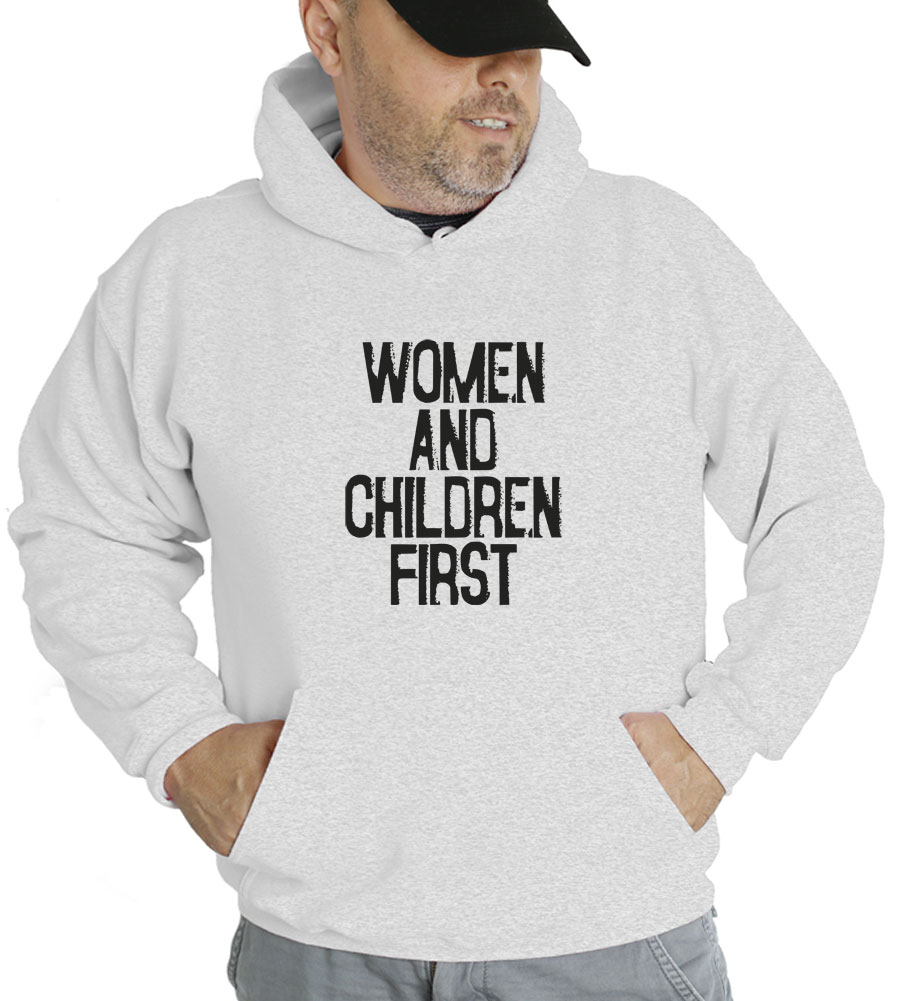 Women and Children First Hooded Sweatshirt
