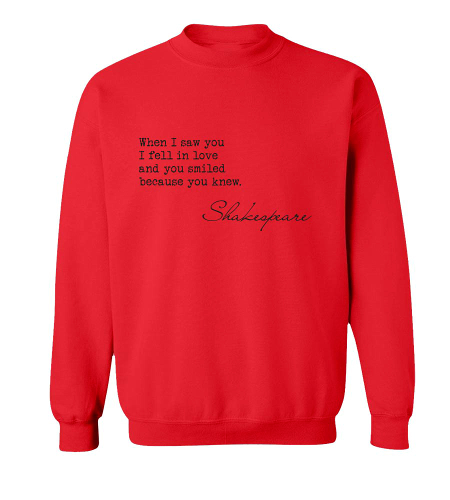 When I Saw You.. Crew Neck Sweatshirt