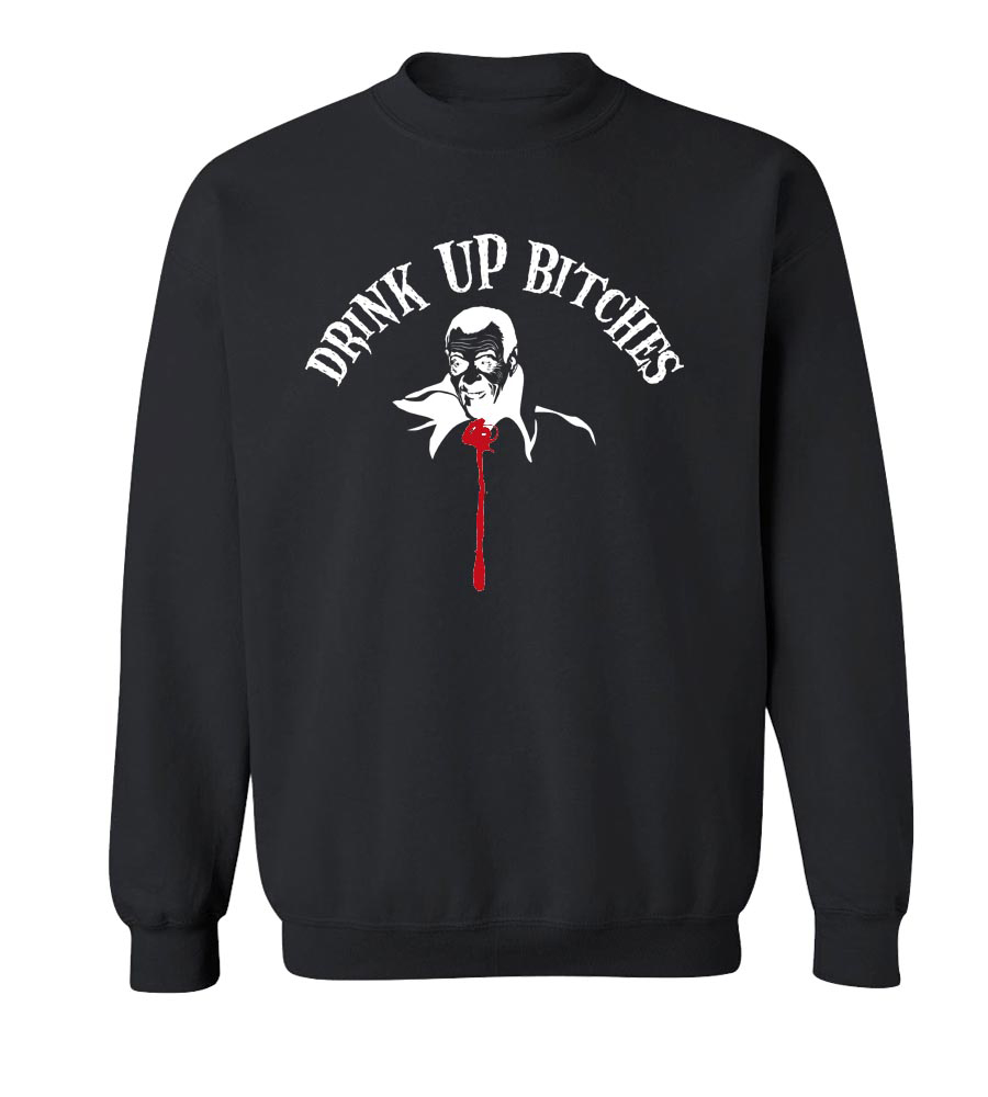 Halloween Drink Up Bitches Crew Neck Sweatshirt