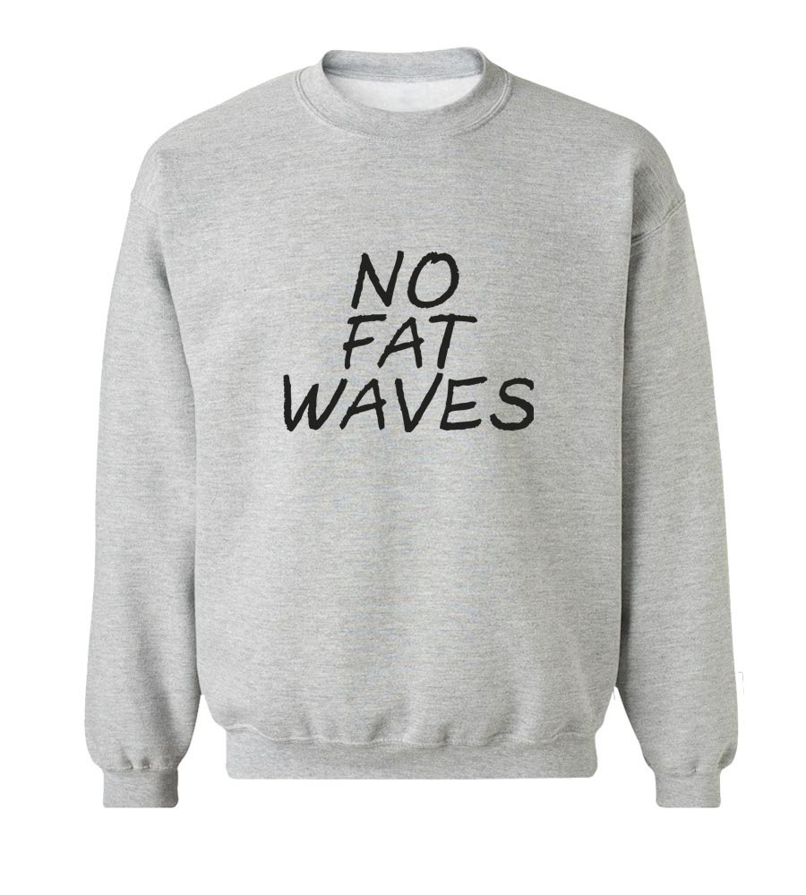 No Fat Waves Crew Neck Sweatshirt