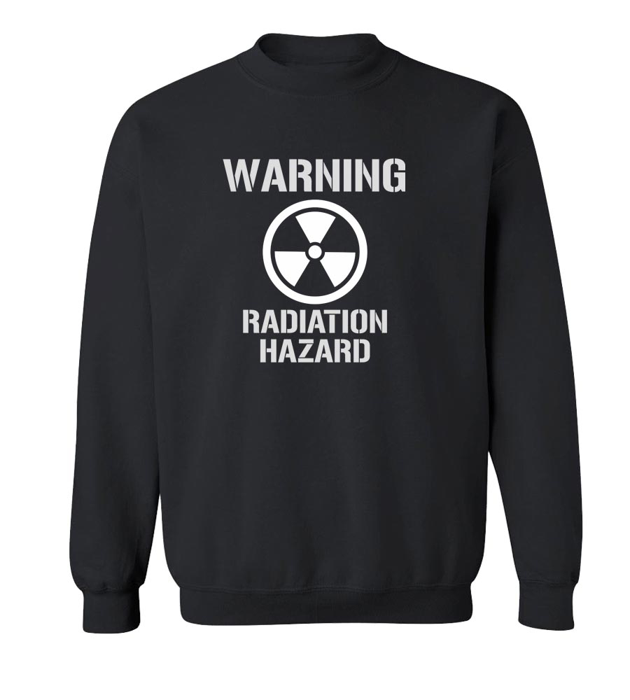 Warning Radiation Hazard Crew Neck Sweatshirt