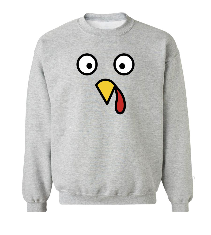 Eyes & Beak Turkey Crew Neck Sweatshirt