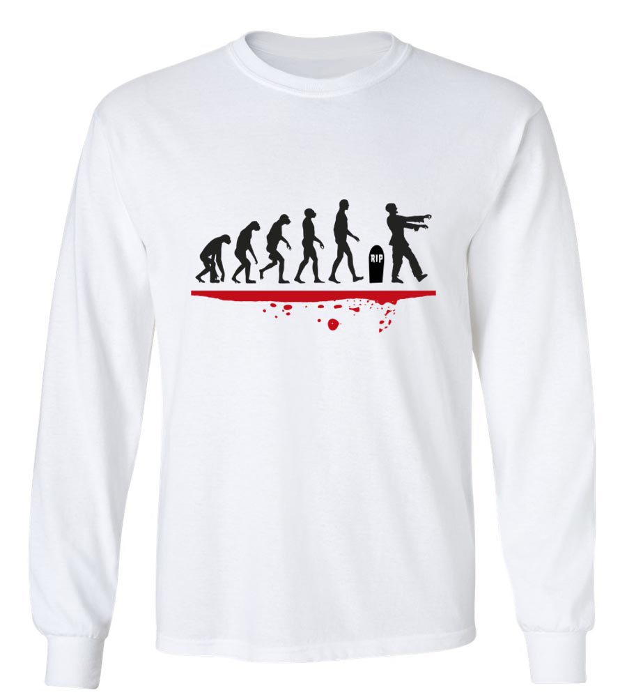 Halloween Man Evolution Zombie Long Sleeve T-Shirt