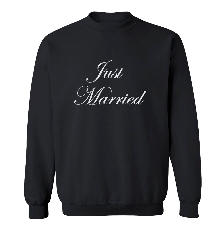 Just Married Crew Neck Sweatshirt