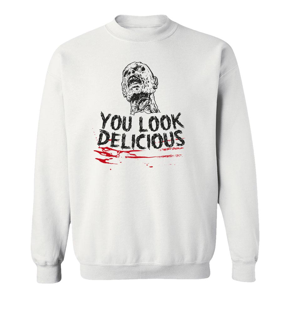 Halloween You Look Delicious Crew Neck Sweatshirt