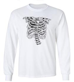 Halloween Rib Cage Long Sleeve T-Shirt