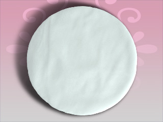 12 inches White Tulle Circles - 25 pcs