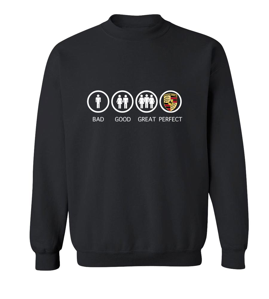 Bad Good Great Perfect Exotic Crew Neck Sweatshirt