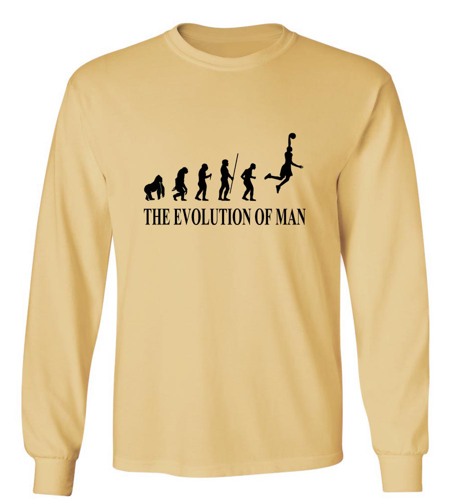 The Evolution Of Man Basketball NBA Long Sleeve T-Shirt