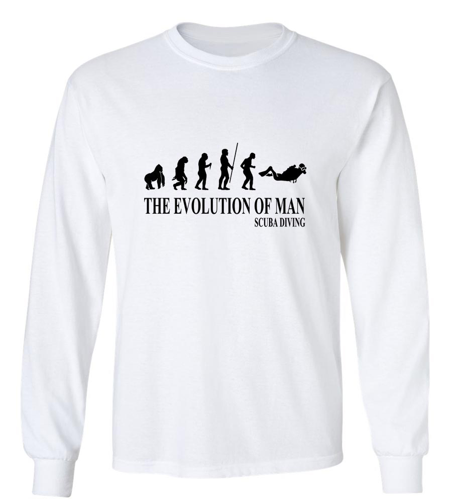 The Evolution Of Man Scuba Diving Long Sleeve T-Shirt
