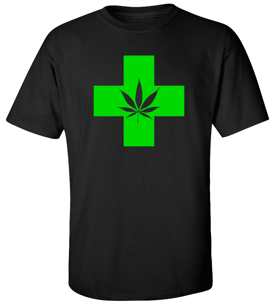 Weed Cross 420 Marijuana T-shirt
