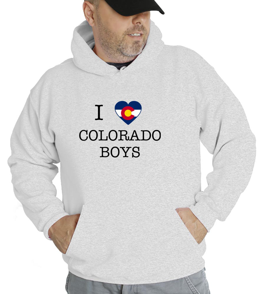 I Love Colorado Boys Hooded Sweatshirt