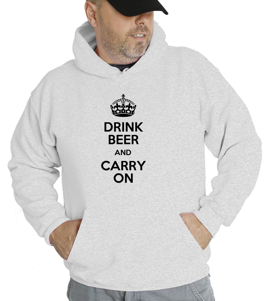 Drink Beer And Carry On Hooded Sweatshirt