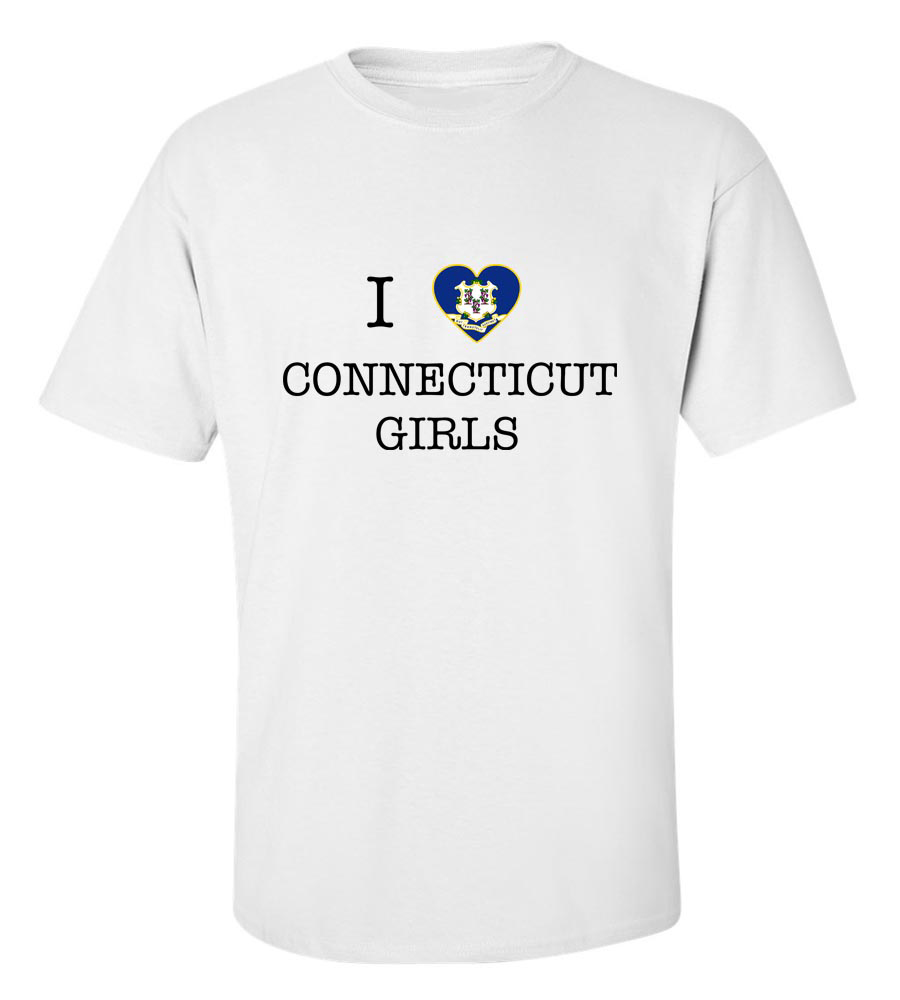 I Love Connecticut Girl T-Shirt