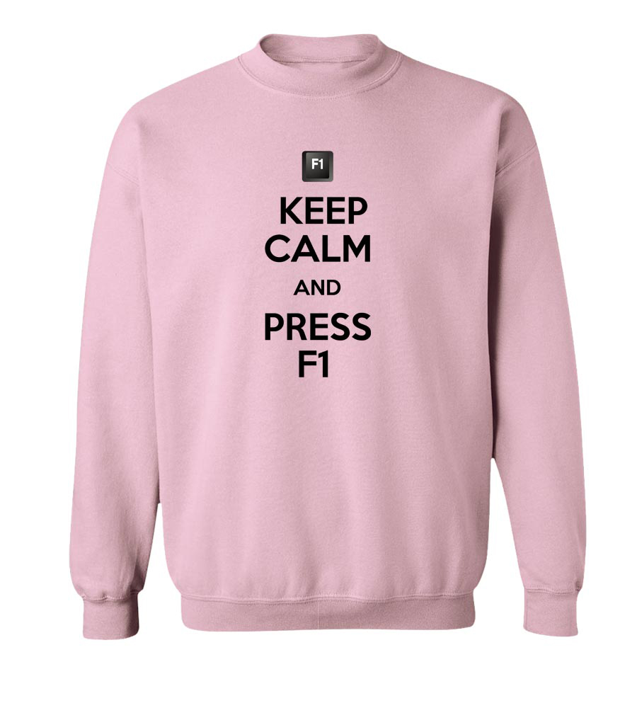 Keep Calm And Press F1 Crew Neck Sweatshirt