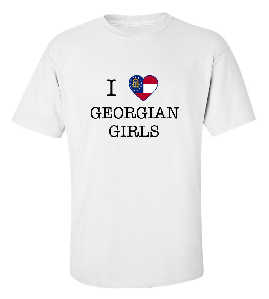 I Love Georgia Us State Girls T-Shirt