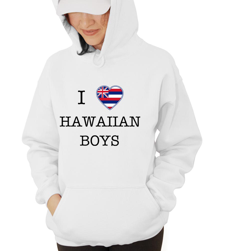 I Love Hawai Boys Hooded Sweatshirt