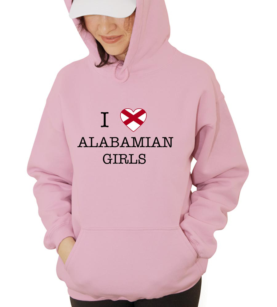 I Love Alabama Girls Hooded Sweatshirt