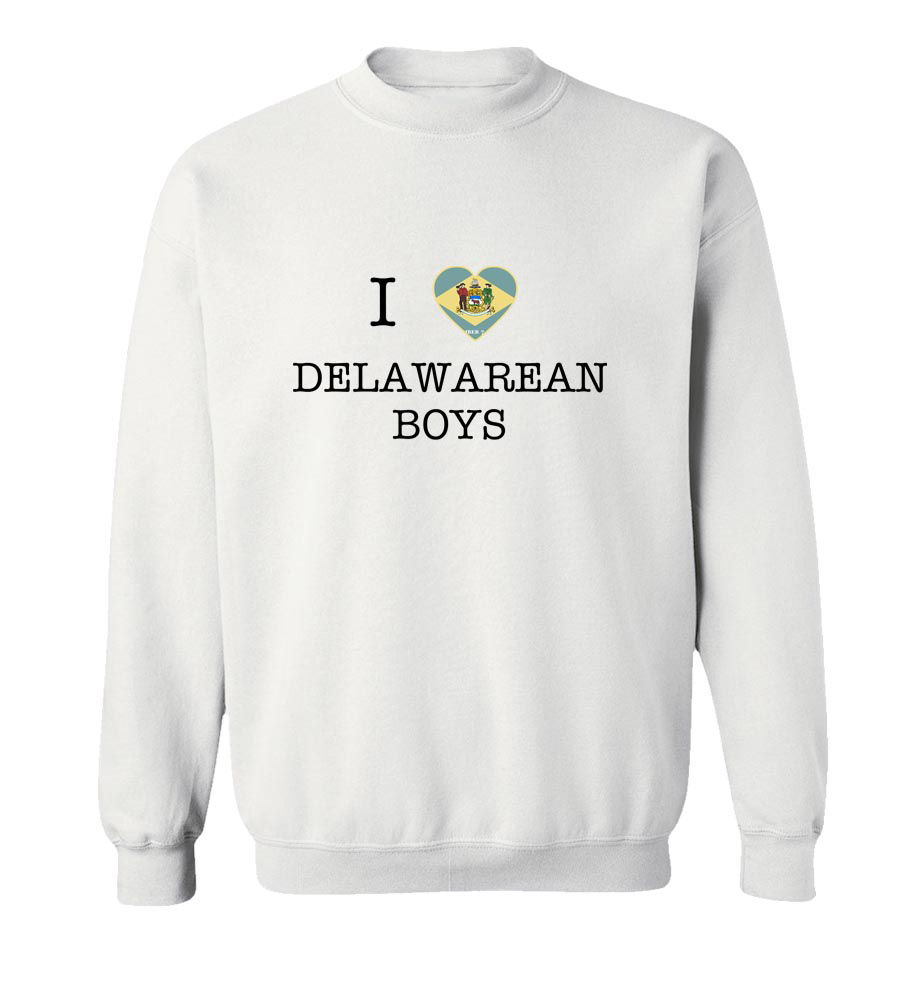 I Love Delaware Boys Crewneck Sweatshirt
