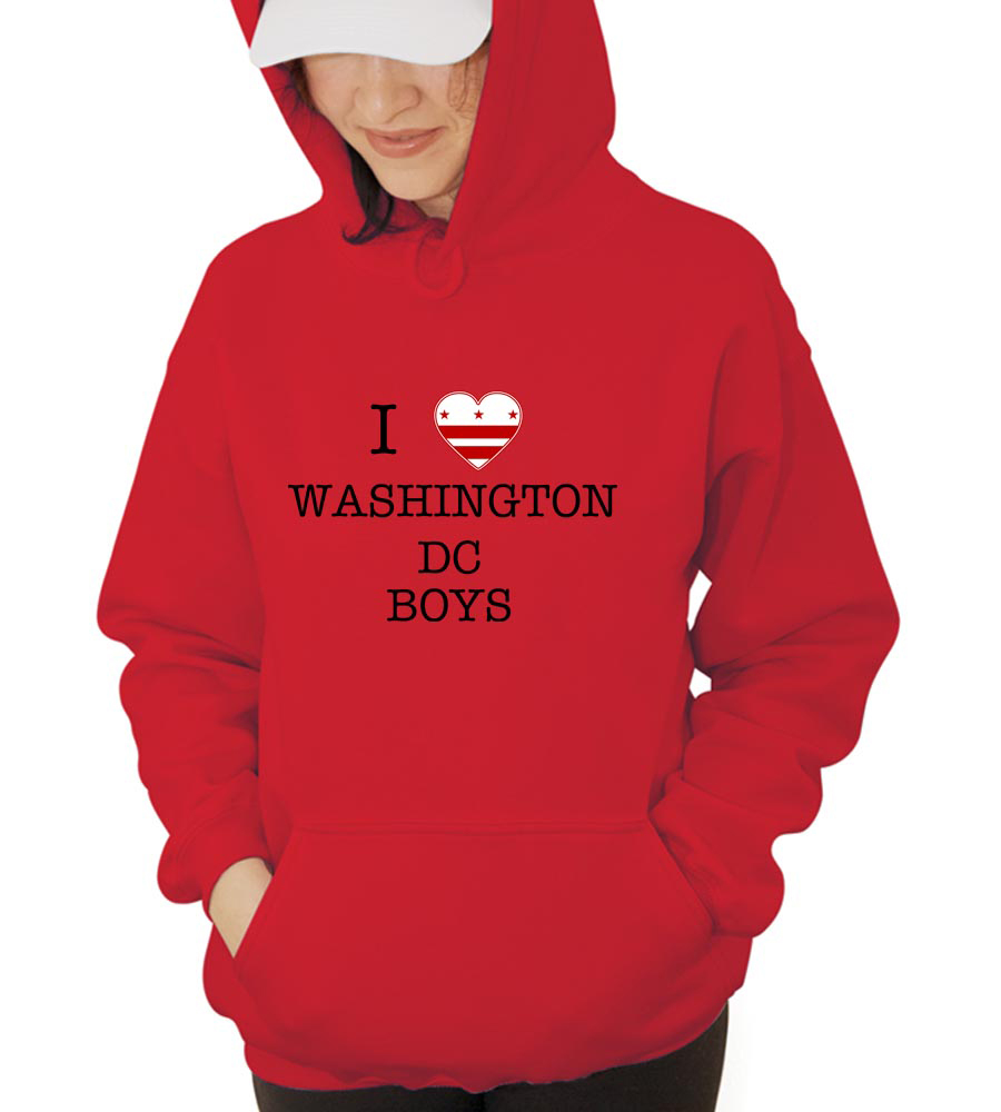 I Love Washington Dc Boys Hooded Sweatshirt