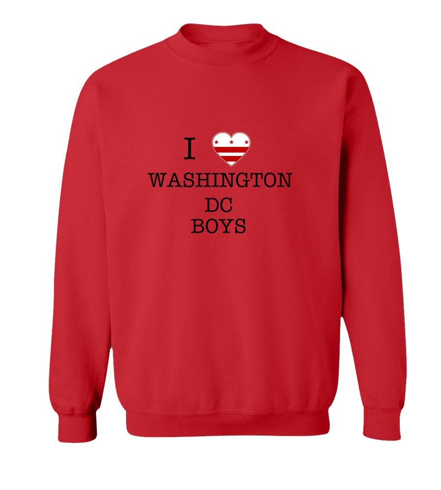 I Love Washington Dc Boys Crew Neck Sweatshirt