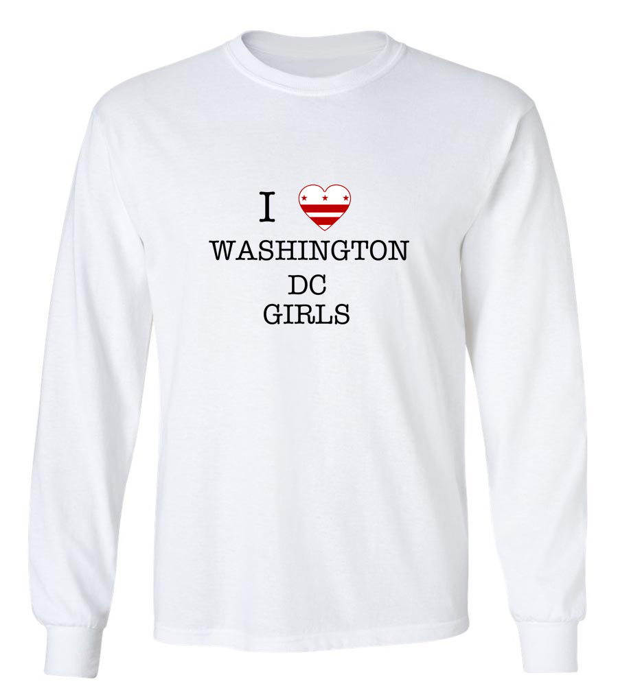 I Love Washington Dc Girls Long Sleeve T-Shirt
