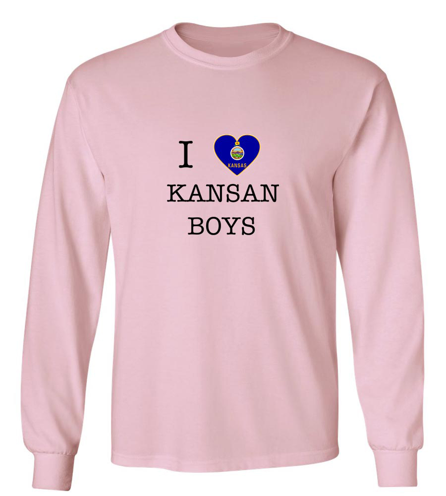 I Love Kansas Boys Long Sleeve T-Shirt