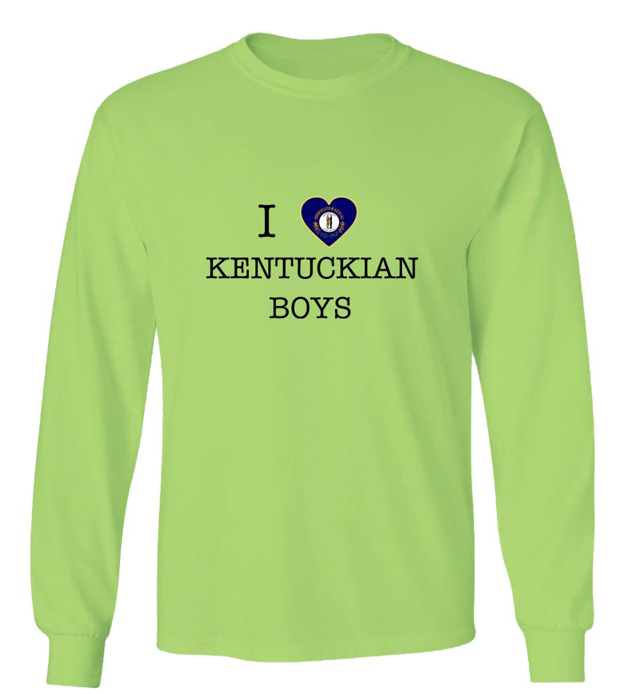 I Love Kentucky Boys Long Sleeve T-Shirt