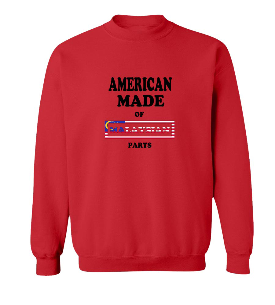 American Made Of Malasian Parts crew neck Sweatshirt