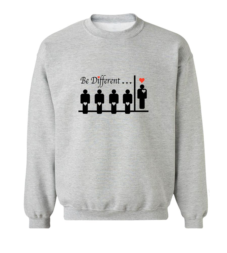 Be Different Crew Neck Sweatshirt