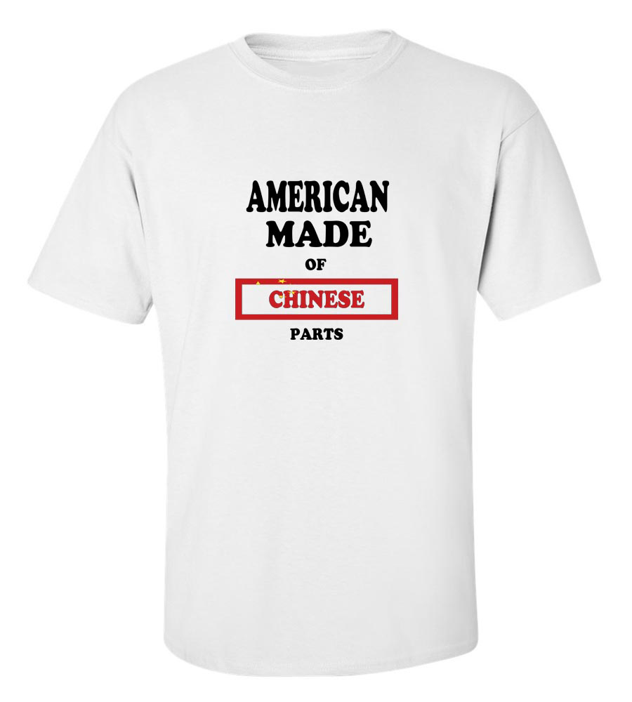 American Made of China Parts T Shirt