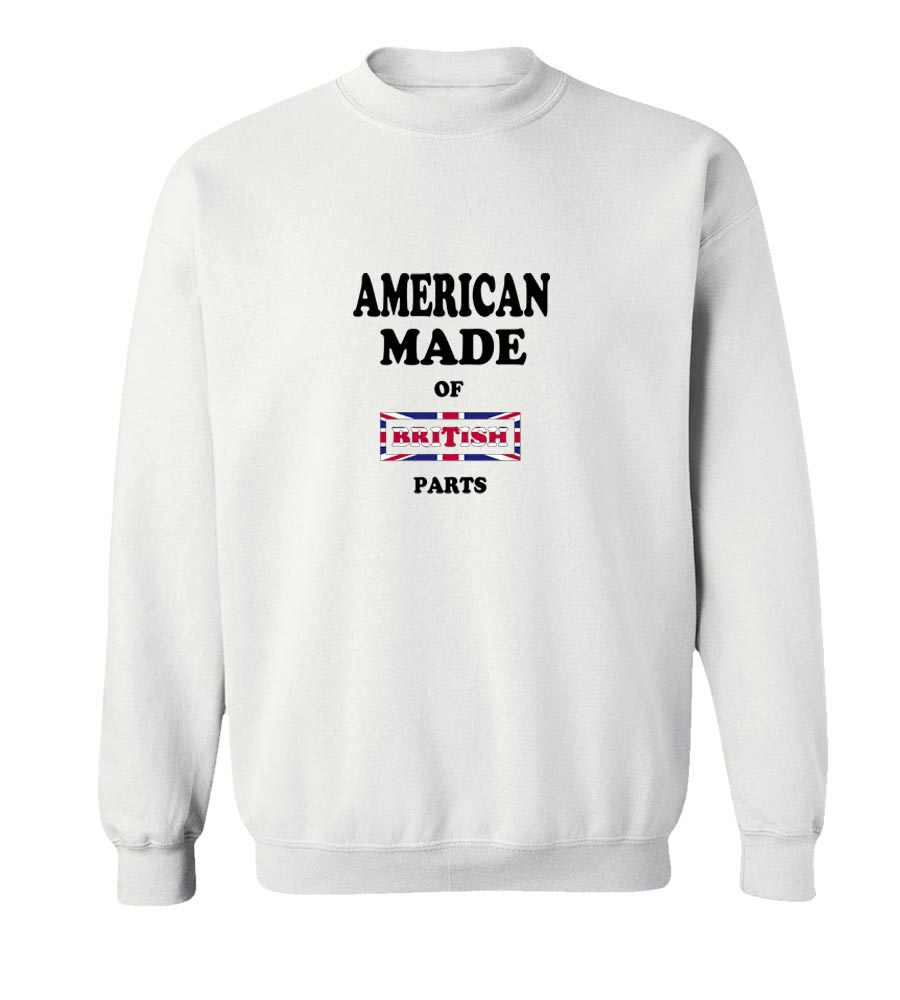 American Made Of United Kingdom Parts Crew Neck Sweatshirt