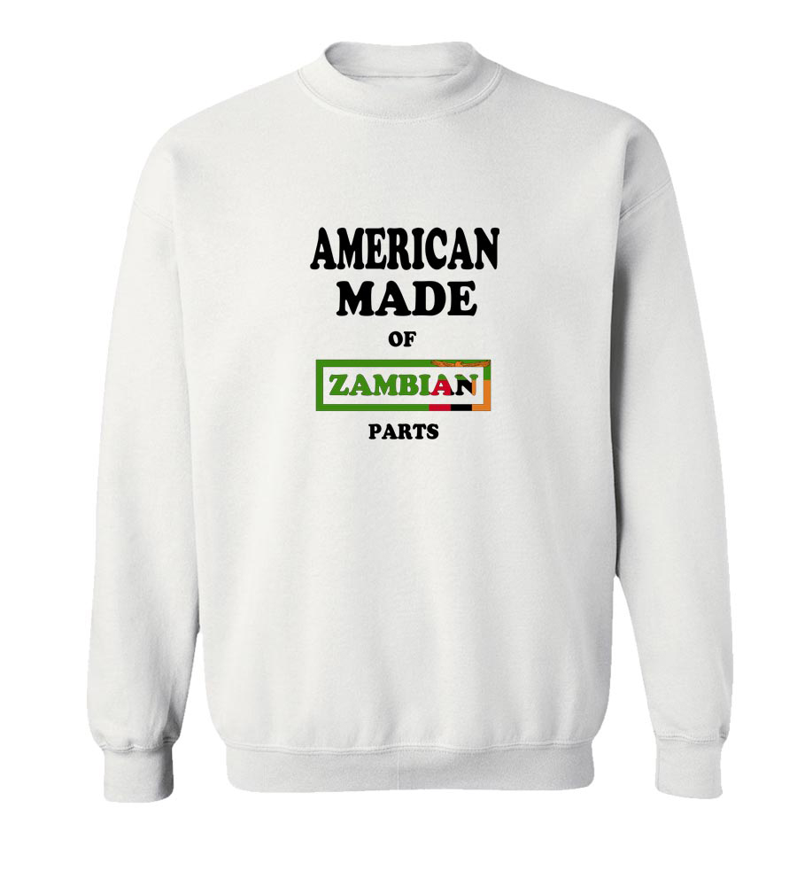 American Made Of Zambia Parts Crew Neck Sweatshirt
