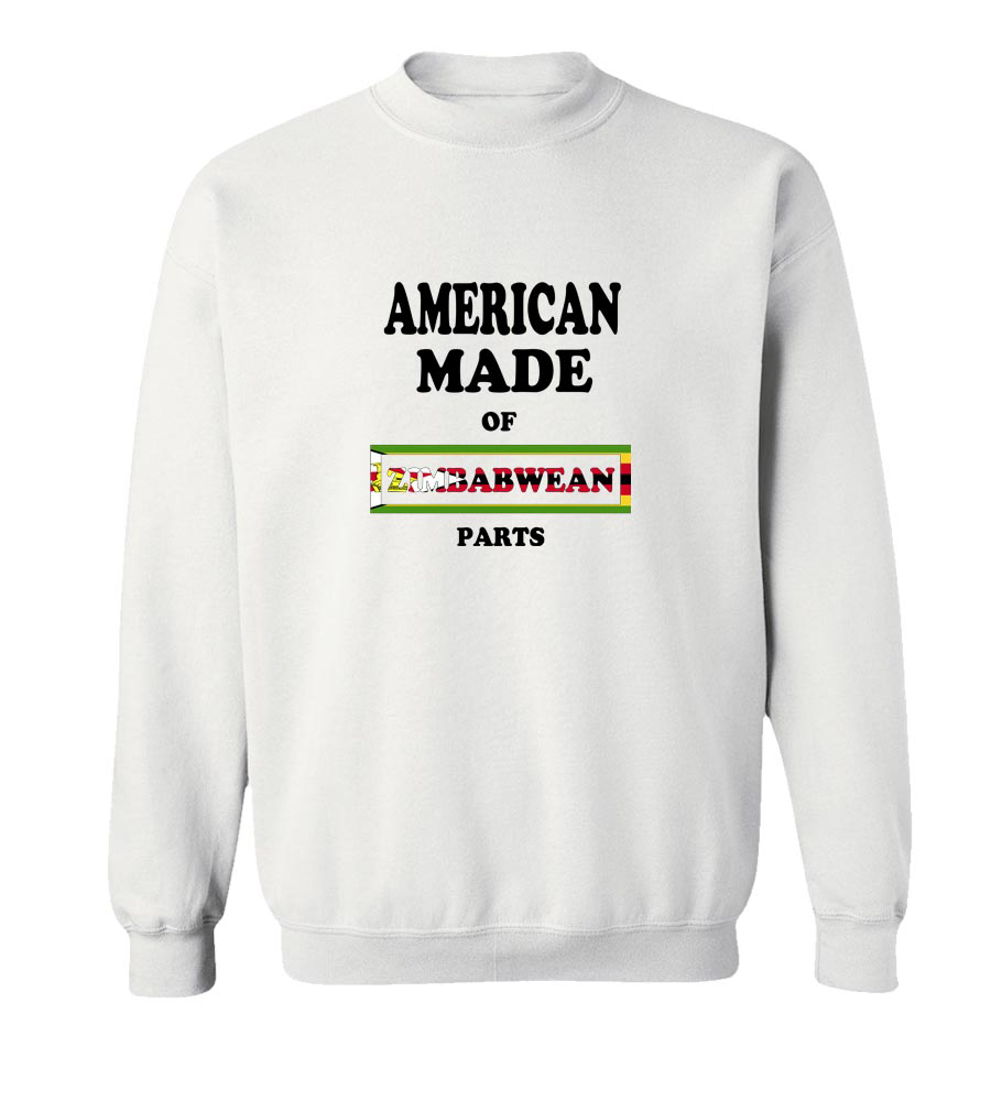 American Made Of Zimbabwe Parts Crew Neck Sweatshirt