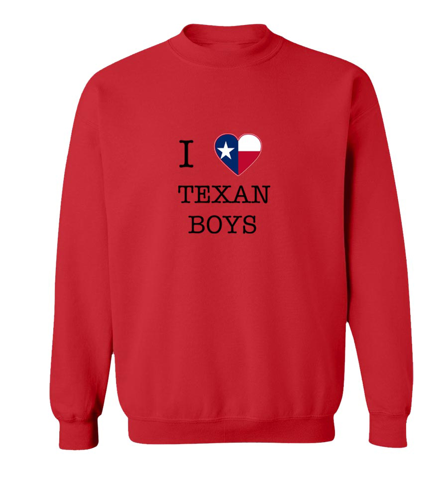 I Love Texas Boys Crew Neck Sweatshirt