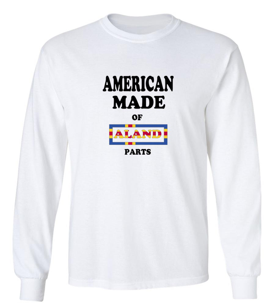 American Made Of Aland Parts Long Sleeve T-Shirt